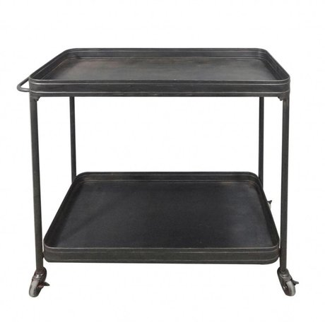 LEF collections Teewagen piuma metallo nero 88x37x82,5cm