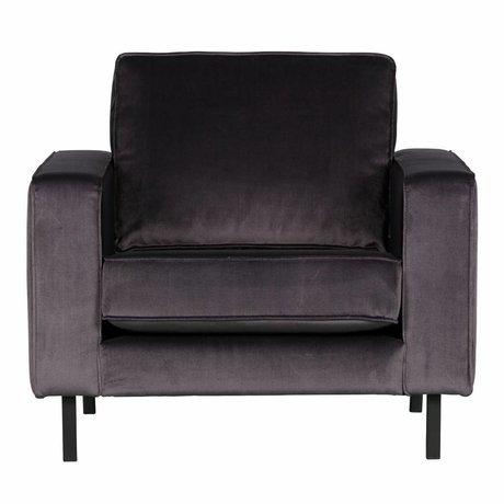 LEF collections Robin fauteuil fløjl antrazhite
