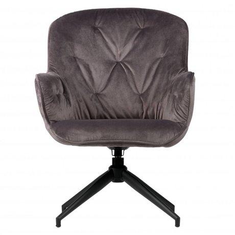 LEF collections Elaine swivel chair velvet antrazhit