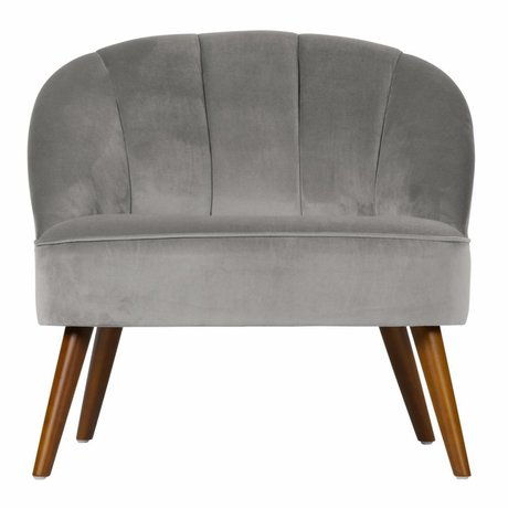 LEF collections Jolie armchair velvet gray