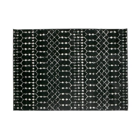 LEF collections Tappeto Sansa nero 170x240