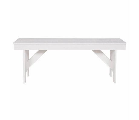 LEF collections Bank Loet white sawn pine 120x30x46cm