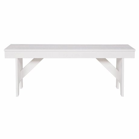 LEF collections Bank Loet pino segato bianco 120x30x46cm
