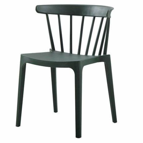 LEF collections Pillar chair Bliss (garden) army green plastic 52x53x75cm