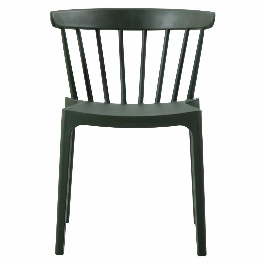 LEF collections Chaise pilier Bliss (jardin) armée verte en plastique  52x53x75cm