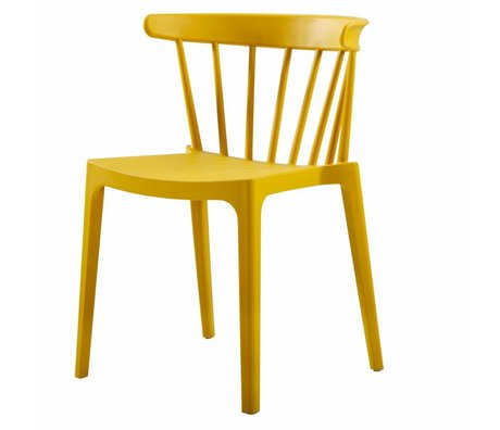 LEF collections Bliss bar chair made of plastic ocher