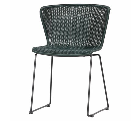 LEF collections Chair Wing (Garden) Bottle Green Set of 2 54,5x54x77,5cm