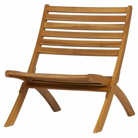 WOOOD Sillón Lois de madera natural.