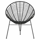 LEF collections Jane lounge chair black