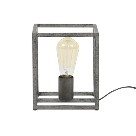Wonenmetlef Bordlampe Quint Altsilber metal 18x18x21cm