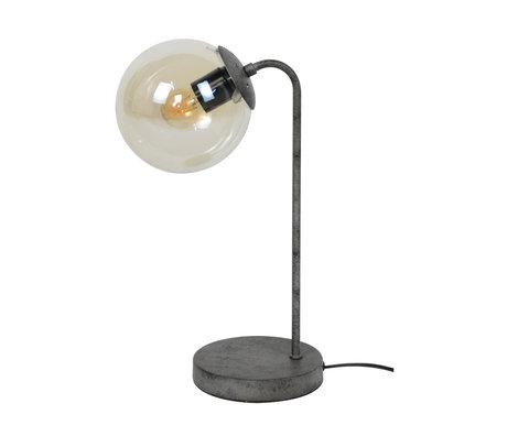 mister FRENKIE Lámpara de mesa Vinnie antiguo plata vidrio metal 21x18x39cm