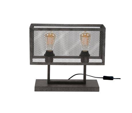 Wonenmetlef Table lamp Madison 2-light old silver metal 40x15x33cm