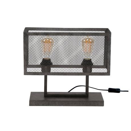 Wonenmetlef Lampe à poser Madison à 2 lumières, argent massif 40x15x33cm