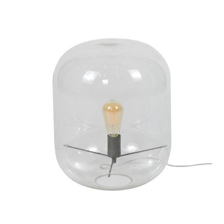 Wonenmetlef Bordlampe Alec dome gennemsigtigt glas Ø35x45cm
