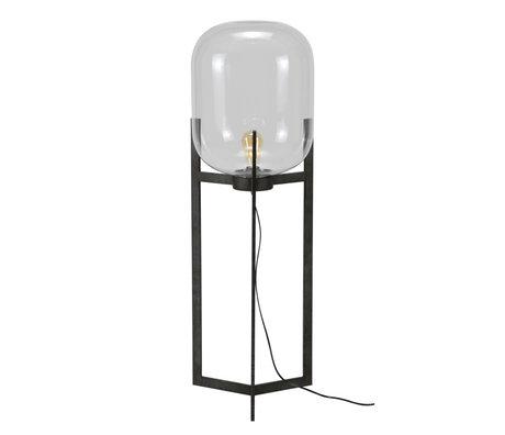 mister FRENKIE Lámpara de pie Dean plata antigua vidrio acero Ø38x110cm