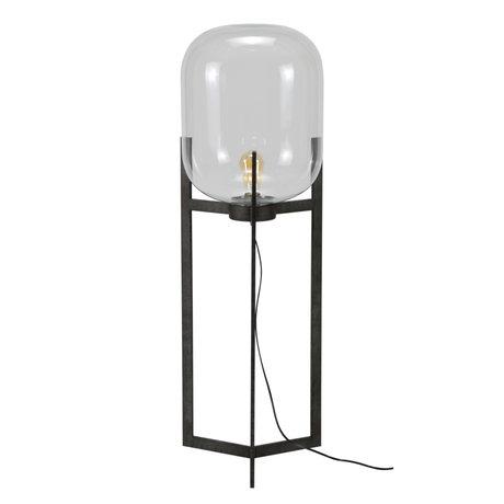 mister FRENKIE Gulvlampe Dean gamle sølvglas stål Ø38x110cm