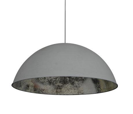 Wonenmetlef Lampada a sospensione Dex grigio argento metallo Ø80x150cm