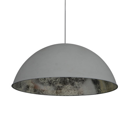 Wonenmetlef Pendant light Dex gray silver metal Ø80x150cm