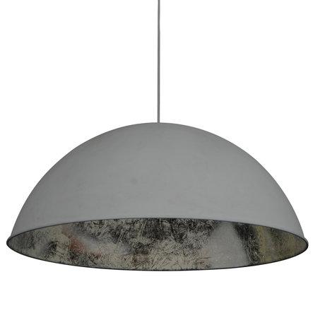 Wonenmetlef Colgante ligero Dex gris metal plateado Ø80x150cm