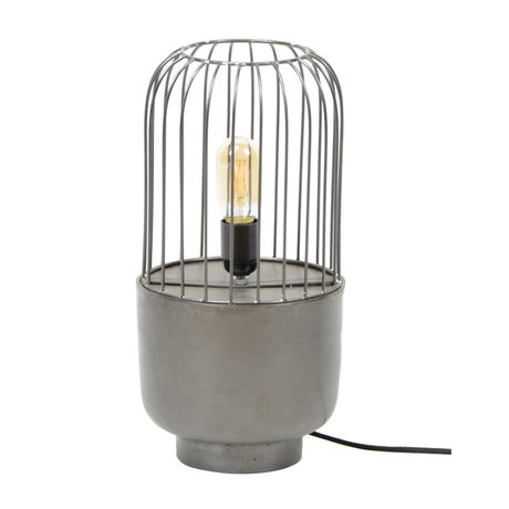 Wonenmetlef Table lamp Mason black metal Ø20x41cm