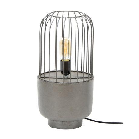 Wonenmetlef Tischlampe Mason schwarzes Metall Ø20x41cm