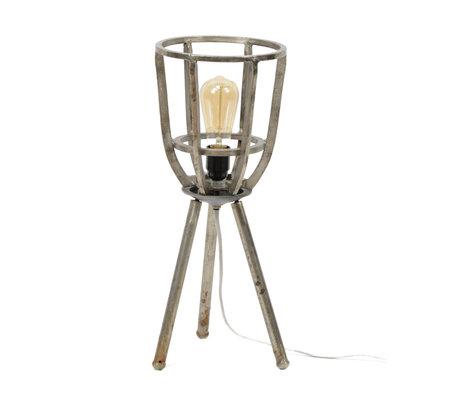 Wonenmetlef Tischlampe Xam Antik Silber Nickel Ø21x51cm