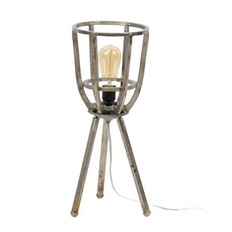 Wonenmetlef Table Lamp Xam Antique Silver Nickel Ø21x51cm