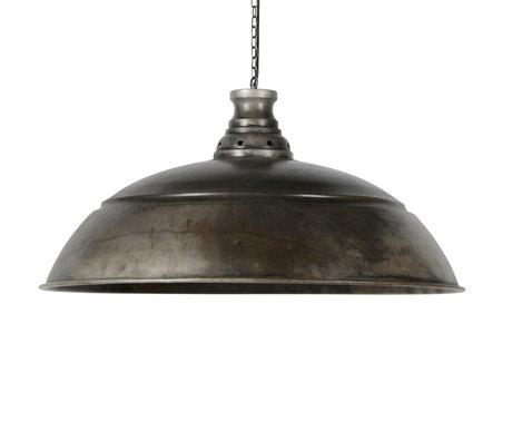 Wonenmetlef Vedhængslampe Owen gamle sølvmetal Ø80x150cm