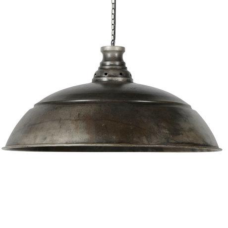 Wonenmetlef Lampe à suspension Owen ancienne Ø80x150cm en métal argenté
