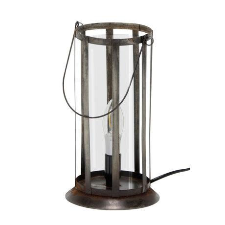 Wonenmetlef Tischlampe Joy altes silbernes Metall Ø12x29cm
