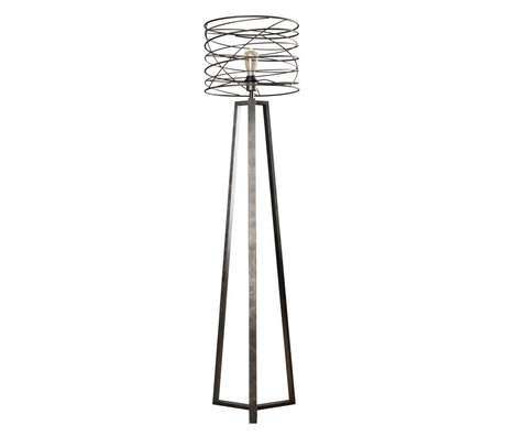 Wonenmetlef Floor lamp Memphis anthracite gray metal Ø40x162cm