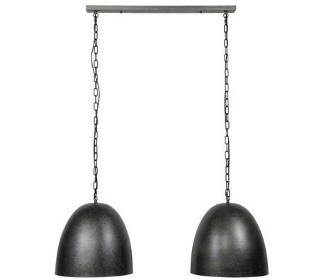 Wonenmetlef Vedhængslys Cody 2-flammer Antracitgrå metal 110x40x150cm