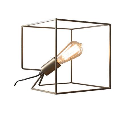 Wonenmetlef Table lamp Jen antique bronze steel 25x25x25x25cm