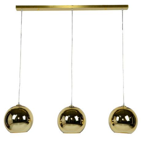 Wonenmetlef Pendelleuchte Phyllon 3-flammig Gold glas 110x25x150cm