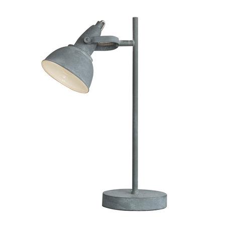 Wonenmetlef Lampe de table Kobe béton gris acier 25x13x45cm