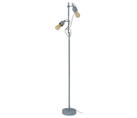 Wonenmetlef Floor lamp Mink 2-light concrete gray metal 23x20x150cm