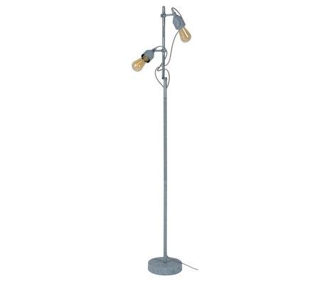 Wonenmetlef Stehleuchte Mink 2-Lichtbeton grau Metall 23x20x150cm
