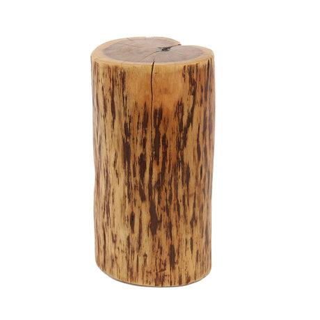 Wonenmetlef Mesa auxiliar de madera maciza marrón natural Brody 35x30x45cm