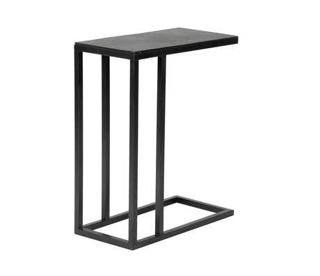 Wonenmetlef Side table Juul Vintage black metal 50x25x65cm