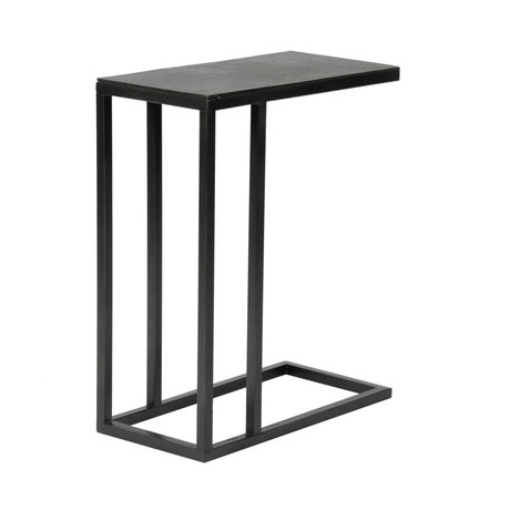 Wonenmetlef Tavolino Juul Vintage in metallo nero 50x25x65cm