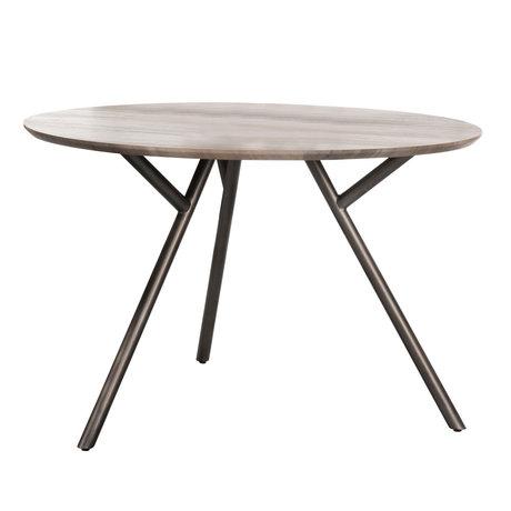 Wonenmetlef Spisebord Kris grå MDF stål Ø120x76cm
