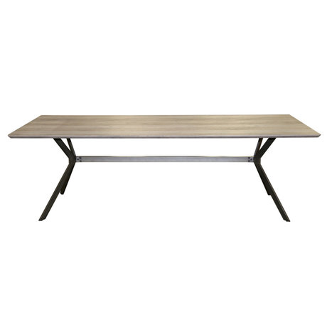 Wonenmetlef Spisebord Lux eg grå-hvid MDF stål 240x100x76cm