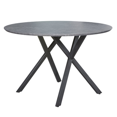 Wonenmetlef Spisebord Mikki beton look grå MDF stål Ø120x76cm