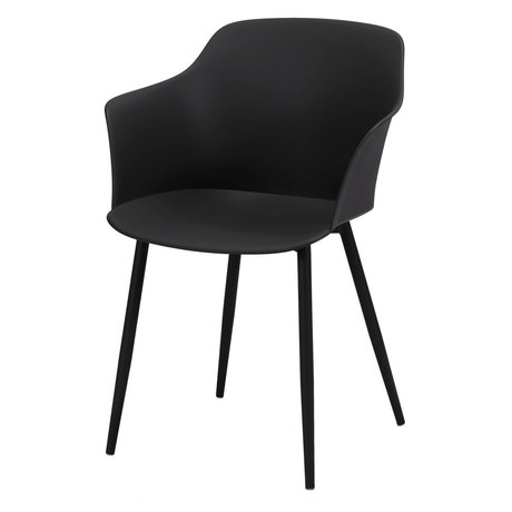 Wonenmetlef Dining chair Elena black plastic steel 59x51x82cm