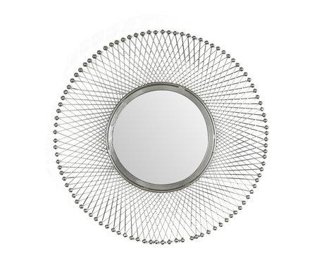 Wonenmetlef Spejl Jara antik sølvglas jern Ø50cm