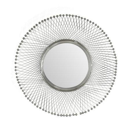 Wonenmetlef Specchio Jara in ferro antico vetro argento Ø50cm
