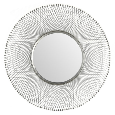 Wonenmetlef Spejl Jara antik sølvglas jern Ø80cm