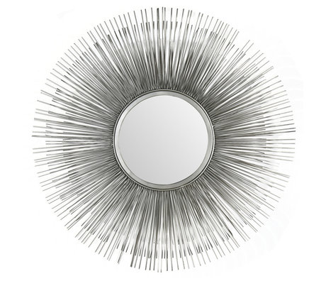 Wonenmetlef Spejl Sonny antik sølvglasjern Ø80cm