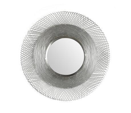 Wonenmetlef Spiegel Lana antikes Nickelglas Eisen Ø65cm