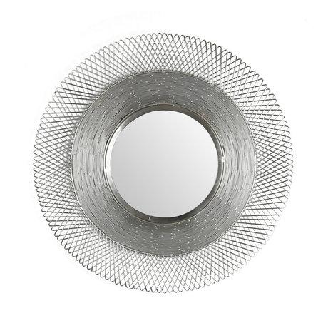 Wonenmetlef Espejo Lana antiguo níquel vidrio hierro Ø65cm